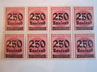 1923 GERMANY STAMP SC#259 BLOCK OF 8 - MINT NH WITH FULL GUM - OVERPRINT - BB-2