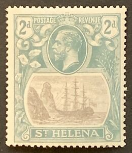 St HELENA. 1922-37 2d. 'Torn Flag'. Excellent Rare Item SG100b. Cat £325 (HV13)