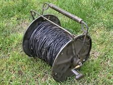 New listing Old Vintage Spool of Electrical Wire w/ Handle & Wind Possible Military Antique