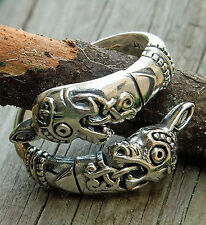 toller Oseberg Ring 925er Silber Gr.52-60 verstellbar Wikinger Ring Pferdekopf