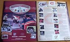 Montreal CANADIEN New York RANGERS 2008 original six 6 rare centennial souvenir
