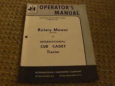 International Harvester 38 inch mower deck Operator's manual