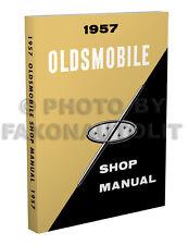1957 Oldsmobile Repair Shop Manual 57 Olds 88 98 Golden Rocket Super Starfire