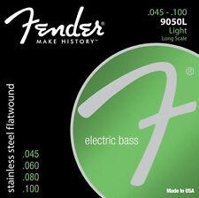 Fender 9050L Stainless Flatwound Light Bass Guitar Strings Set 0739050403