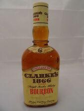Spirituosen - Barräumung - Clarke`s 1866 Bourbon 6 years 70er Jahre 40%VOL