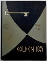 1958 MONTEBELLO SENIOR HIGH SCHOOL Original YEARBOOK Annual Golden Key