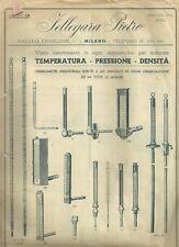 Fellegara Pietro Termometri Industriali a Carica di Mercurio Catalogo 1940