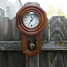 vintage time only/time piece miniature wall regulator clock