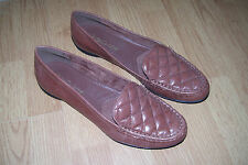 NEW WOMENS BELLA VITA SIZE 12 12M BROWN LEATHER LOAFERS SHOES FLATS SLIP ONS