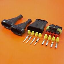 Amplificador 4 Vías Superseal Eléctrica Conector Impermeable Con Botas - 0.5-1.5 mm Cable