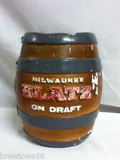 Blatz barrel keg doll vintage beer sign no guy bank chalkware chalk back bar Old