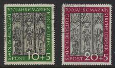 Germany Scott B316-B117 / Michel 139-140: Marienkirche Lubeck 700th year, VF-CDS