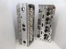 SBC CHEVY 350 383  ALUMINUM HEADS 64cc CHAMBERS 200cc - 202/160 BARE STR. PLUG