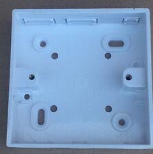 Nouveau 4 x électrique plat blanc plaque blanc 1 Gang chaque freepost.uk vendeur