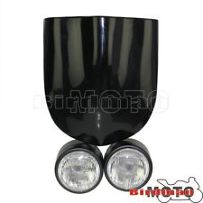 Twin Buell Style Headlight Lamp Screen For Streetfighter Cafe Racer GSF600 SV650