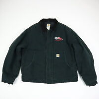 Carhartt Arctic Quilt Lined Jacket Canvas Black Workwear Trucker Theme Mens 46