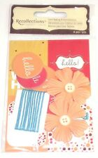 Card Making Kit, Orange Flowers, String, Hello Smile, String, NEW