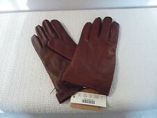 New J.Crew Mens Cashemere-Lined Leather Gloves, 05828, Size L, Tan, $98
