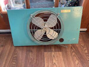 VINTAGE MID CENTURY ESKIMO Single WINDOW FAN Works Turquoise Teal