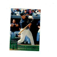1998 Leaf Rookies & Stars True Blue Edgar Martinez Parallel MARINERS DH! HOF!