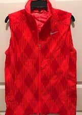 NWT $120 Nike Golf Sport Orange/Red Thermal Zippered Sport Vest LARGE