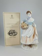 More details for royal worcester figurine- the baker's wife - perfect - certificated