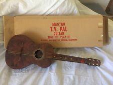 Mastro TV Pal 1950's Plastic Maccaferri Acoustic Guitar Original box