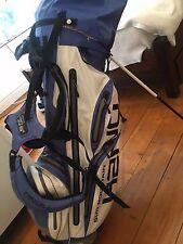 SUN Mountain Blu e Bianco Grande Borsa Da Golf EZ Fit H2NO con supporto