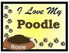 Poodle Personalized I Love My Poodle Magnet