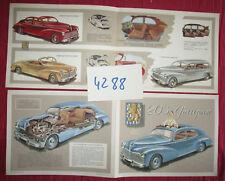 N°4288 /   dépliant PEUGEOT 203 berline , cabriolet  limousine  1952-1953