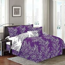 "Natural 6 Piece Branches (90""X90 Inch) Reversible Printed Soft comforter set"