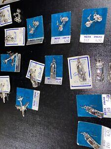 16 Vintage Transportation Sterling Silver Charms