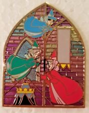 Disney Sleeping Beauty Fairies Flora Fauna Merryweather Stained Glass Le Pin Noc