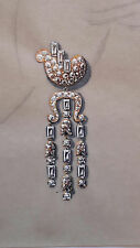 DESPRES Dessin original GOUACHE boucle d'oreille géométrique ART DECO 1930