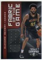 2016-17 Panini Totally Certified Fabric of Game Rookies Jersey DeAndre' Bembry