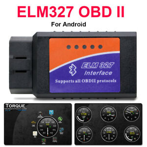 E-L-M-327 OBD2-Car Auto Bluetooth Diagnostic Tool Interface Scanner Android