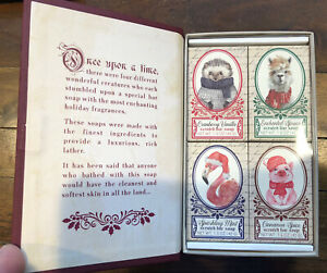 Once Upon A Time Set Of 4 Luxurious Soaps 1.5 oz. Each Vanilla Mint Spruce Spice