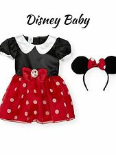•Disney Minnie Mouse Costume Ears Set Dress Up Halloween Costume