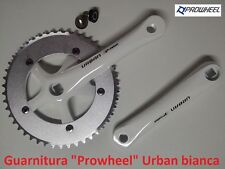 65WK Guarnitura singola Prowheel Urban Bianca 46T per bici 20-24-26 Pieghevole