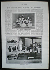 BRITISH BASE HOSPITAL WYNBERG CAPE TOWN NURSE SECOND BOER WAR PHOTO ARTICLE 1900