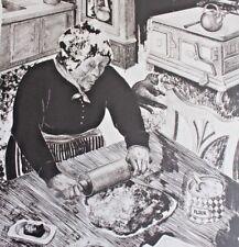GRANDMOTHER COOKING a ONE OFF MONO PRINT Woodcut AUBREY BEARDSLEY Carel Willink