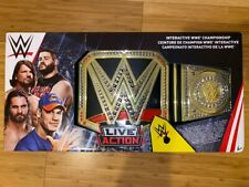 Brand New WWE Live Action Interactive Championship Belt Mattel