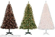 Pre-Lit 6.5' Madison Pine Artificial Christmas Tree-Clear/ Blue/MultiColor Light