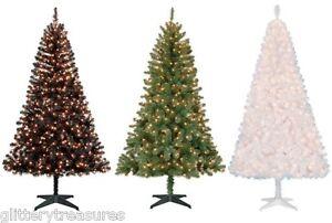 Pre-Lit 6.5' Madison Pine Artificial Christmas Tree-Clear/ Blue/MultiColor Light