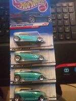 Hot Wheels 1999 PHAETON First ED. Lot Of 4. MINT CARDS