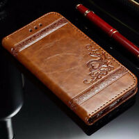 Retro Deluxe Leather Phone Bag Wallet Case Card Holder Cover for iPhone 7 6s SE