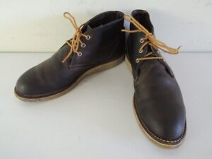 Red Wing 3150 WORK CHUKKA Charcoal Rough Tough Leather Shoes Boots Size 11 D