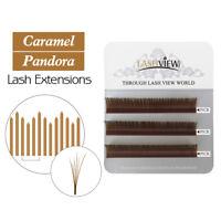 Lashview 3D 6D Volume Eyelash Extensions Individual Lashes Caramel Brown 0.07 C