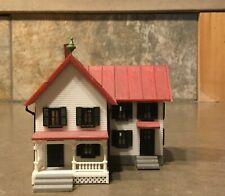 Two N Scale Victorian Homes with shed and deck