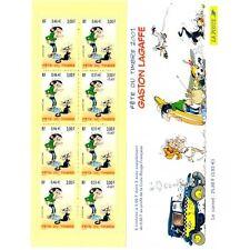 Bande Carnet BC3370A - Fête du timbre - Gaston Lagaffe - 2001